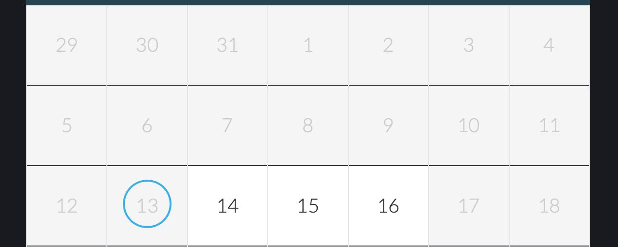 Kalender mit Buchungssystem